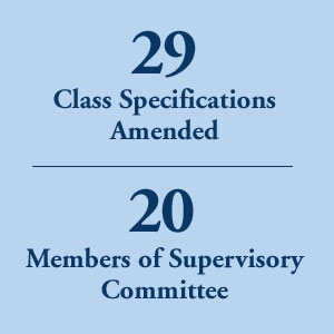 graphic block image, 29 Class Specifications Amended and 20 Members of Supervisory Committee