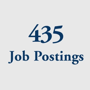 graphic block image, 435 Job Postings